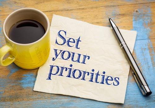 alinhe suas prioridades